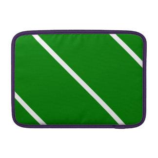 Rayas blancas en verde fundas MacBook