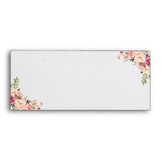 Rayas blancas florales del vintage y negras sobres