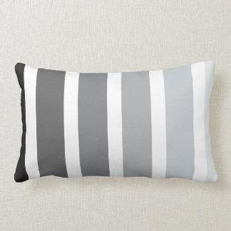 Rayas blancas negras grises de Ombre Cojín
