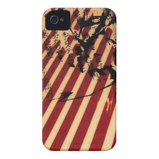 rayas blancas rojas Case-Mate iPhone 4 carcasa