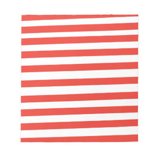 Rayas blancas rojas del marinero libretas para notas
