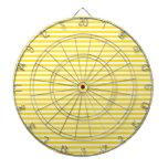 Rayas - blancas y amarillo de oro tabla dardos