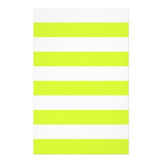 Rayas - blancas y amarillo fluorescente  papeleria de diseño