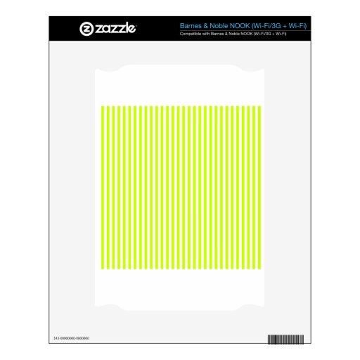 Rayas - blancas y amarillo fluorescente skins para NOOK