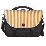 Rayas - blancas y anaranjado oscuro bolsas para ordenador