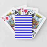 Rayas blancas y azules baraja