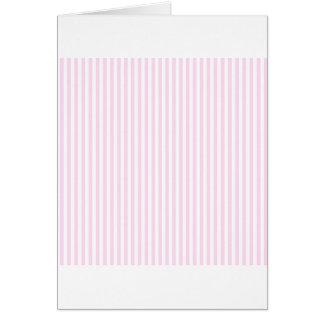 Rayas - blancas y cordón rosado tarjeta de felicitación