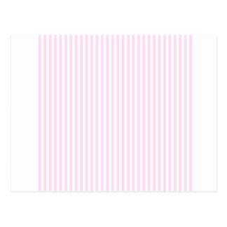 Rayas - blancas y cordón rosado postales