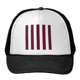 Rayas - blancas y escarlata oscuro gorras de camionero