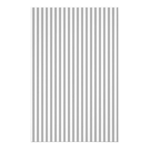 Rayas - blancas y gris oscuro papeleria