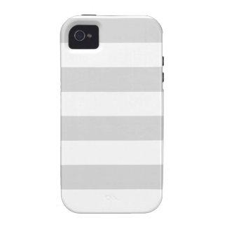 Rayas - blancas y grises claras vibe iPhone 4 carcasa