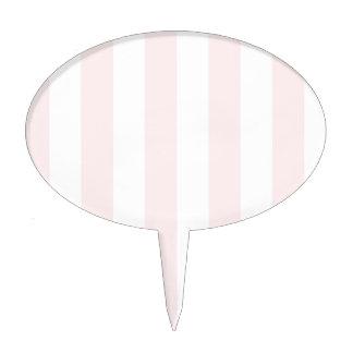 Rayas - blancas y pálidas - rosa figuras de tarta