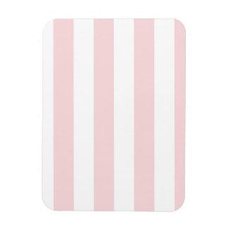 Rayas - blancas y pálidas - rosa iman flexible