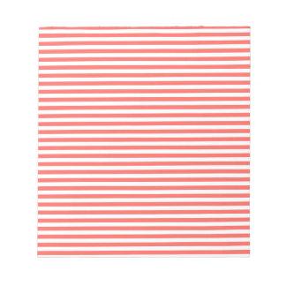 Rayas - blancas y rojo en colores pastel bloc