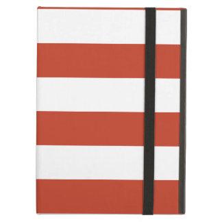 Rayas - blancas y rojo en colores pastel oscuro