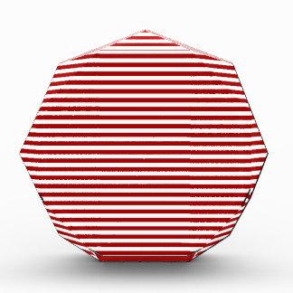 Rayas - blancas y rojo oscuro de Apple de caramelo