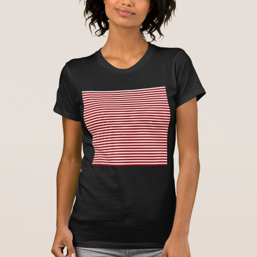 Rayas - blancas y rojo oscuro de Apple de caramelo Camisetas