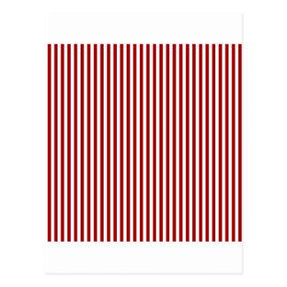 Rayas - blancas y rojo oscuro de Apple de caramelo Postal