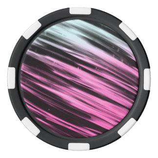 Rayas blancas y rosadas fichas de póquer