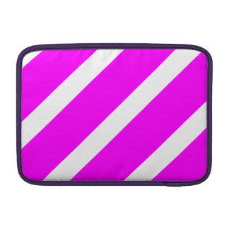 Rayas blancas y rosadas funda macbook air