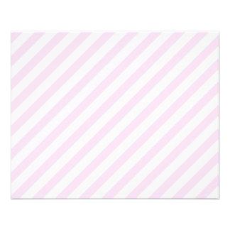 Rayas blancas y rosas claras tarjetas informativas