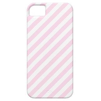 Rayas blancas y rosas claras iPhone 5 Case-Mate carcasas