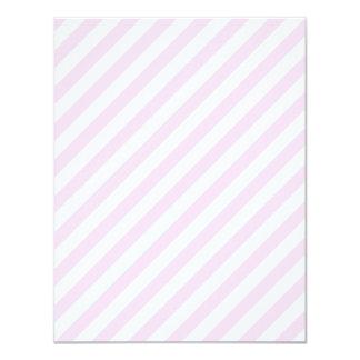 """Rayas blancas y rosas claras invitación 4.25"""" x 5.5"""""""
