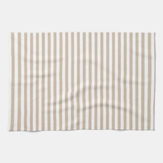 Rayas - blancas y vainilla oscura toallas de cocina