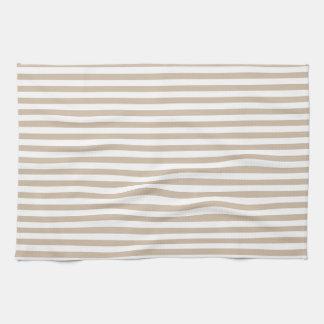 Rayas - blancas y vainilla oscura toalla
