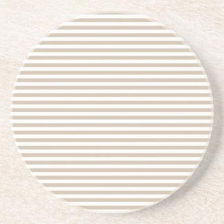 Rayas - blancas y vainilla oscura posavaso para bebida