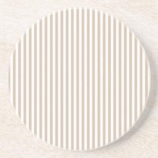 Rayas - blancas y vainilla oscura posavasos personalizados