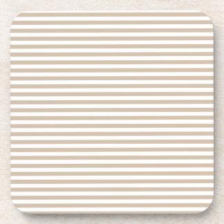 Rayas - blancas y vainilla oscura posavaso