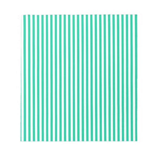 Rayas - blancas y verde del Caribe Bloc De Notas