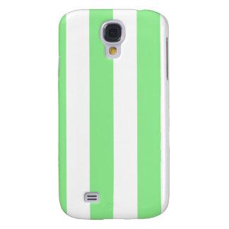 Rayas - blancas y verdes claras funda para galaxy s4
