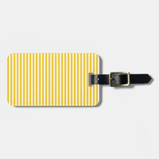 Rayas - blanco y amarillo de la mandarina etiquetas bolsa
