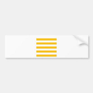 Rayas - blanco y ámbar pegatina para auto