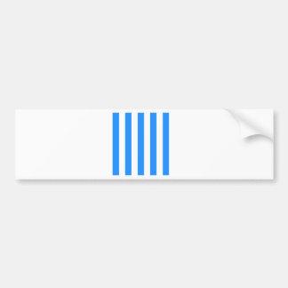 Rayas - blanco y azul de Dodger Pegatina De Parachoque