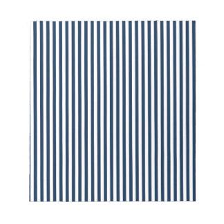 Rayas - blanco y azul de Oxford Blocs De Notas