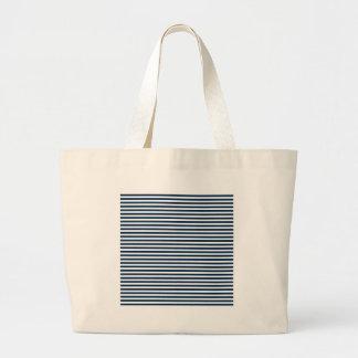 Rayas - blanco y azul de Oxford Bolsas Lienzo