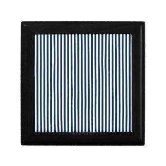 Rayas - blanco y azul de Oxford Caja De Joyas