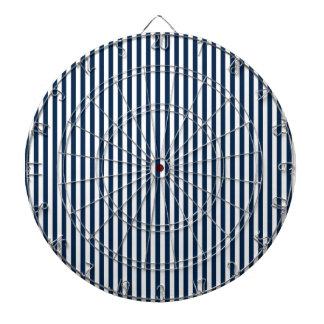Rayas - blanco y azul de Oxford Tablero Dardos