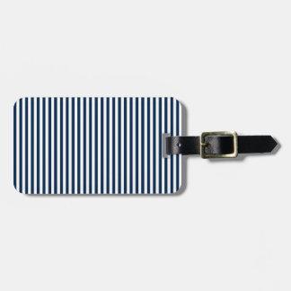 Rayas - blanco y azul de Oxford Etiquetas De Equipaje