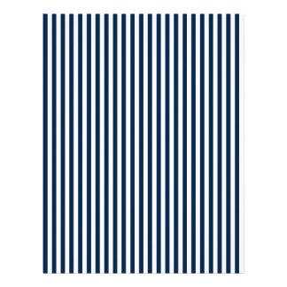 Rayas - blanco y azul de Oxford Membrete A Diseño