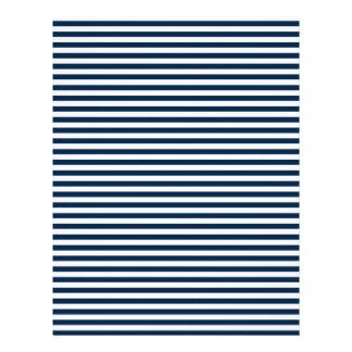 Rayas - blanco y azul de Oxford Plantilla De Membrete