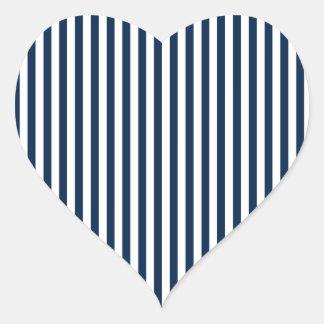 Rayas - blanco y azul de Oxford Calcomania Corazon Personalizadas