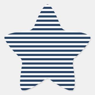 Rayas - blanco y azul de Oxford Calcomania Cuadrada Personalizada