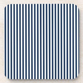 Rayas - blanco y azul de Oxford Posavasos De Bebidas