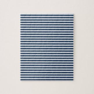 Rayas - blanco y azul de Oxford Puzzle