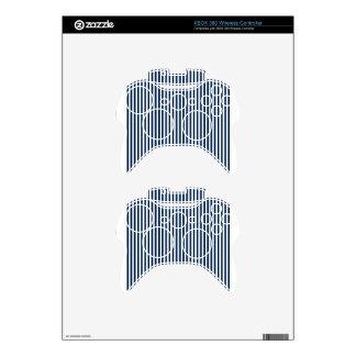 Rayas - blanco y azul de Oxford Mando Xbox 360 Calcomanía