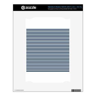 Rayas - blanco y azul de Oxford NOOK Calcomanía